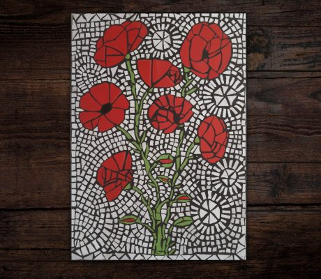 'Poppies Meadow' Mosaic