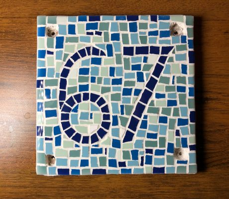 Custom Door Number Mosaic